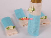 Wholesale Fedex DHL New Florets Anti Scratch Furniture Table Chair Foot Leg Cover Protective Sleeve