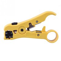 Wholesale New Universal Network Phone Cable Stripper Wire Cutter Tool for UTP STP RG CAT5 Yellow