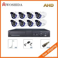 Wholesale 8CH AHD Security Camera Set DVR HD Array Light CCTV Camera Woshida