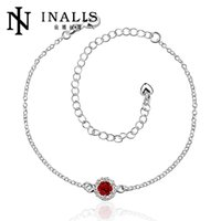 Wholesale A033 D New Design Large Stock Delicate Handmade Cheap Silver Plated Anklet Bulk Sale
