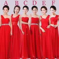 Cheap 2015 Cheap Fashion Strapless Long A-line Chiffon Bridesmaid Dresses Red Bridesmaid Gowns vestido de festa curto