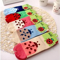 beetle colors - Cotton children socks kids socks for girls boys Age cartoon pattern colors beetles socks Anti Slip Socks Floor Children Socks