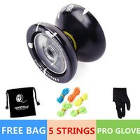 Wholesale Magic YOYOBall N9 Floating Cloud Aluminum Alloy Toy Black Silver String Bag black color yoyo gifts toy for children