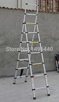 Wholesale Aluminum Ladder M M Unequal Sides Telescopic Ladder Folding Retractable Home use Aluminum Ladder