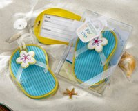 beach gift tags - Flip Flop Luggage Tags in Beach Themed Box LOWEST PRICE Wedding favors and gifts Bridal shower