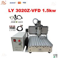Wholesale New arrival desktop cnc router Z VFD1 KW Ball Screw metal etching machine with KW VFD water cooling spindle