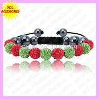Wholesale mix color fashion jewelry Crystal Czech Rhinestone Clay Pave Disco Shamballa Bracelets for Christmas amp valentine s Gift