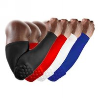 Wholesale Men Boys Sports Honeycomb Pad Crashproof Cycling Basketball Shooting Extended Arm Guard Sleeve Elbow Support Size M XL00590