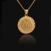 Wholesale Allah Necklace Pendants Fashion Jewelry Women Men Gift Trendy K Real Gold Plated Pendant Necklaces