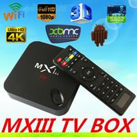Wholesale Bluetooth Amlogic S802 Quad Core GHz MINI PC K MX MXIII Android Miracast DLAN G RAM G ROM TV Box wifi MX III XBMC media player