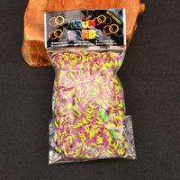 tie dye kit - Loom Bands KIT Colorful DIY Loom Rubber Band TIE DYE Bracelet S buckle Mixed Color Hot Via DHL