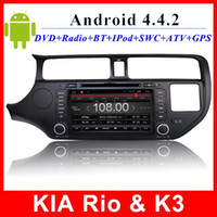 Wholesale Autoradio Kia Rio K3 Android car dvd GPS Navigation TV G WIFI OBD AUX In dash din inch touch screen multimedia player