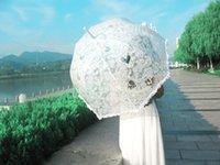 Wholesale DN Pure Cotton Lace Embroidery Ladies Parasol Good Quality Bridal Wedding Umbrella White Royal Girls Parasols On Line Sales