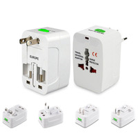 Wholesale UK EU USA AU Universal World Wide AC Power Plug internaional Travel Adapter Converter All in One International Travel Adaptor