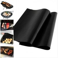Wholesale BBQ Grill Liner Mat Resuable Barbecue Sheet Pad Heat Resistance Grill Mat Sheet Microwave Use Cooking Sheet BBQ Grill Mat set