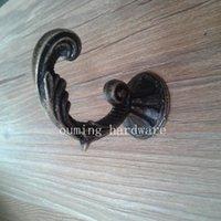 antique furniture sale - factory direct sale bronze color zinc alloy antique coat hanger classic furniture rope hooks size about mm