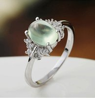 Cheap Fashion Jewelry S925 Sterling Silver Rings Elegant Noble Prehnite Rings Wedding Rings For Women Gifts Rings Free Shipping