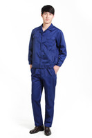 Wholesale OEM work clothing protective clothing denim fabric work wear long sleeve factory direct sale
