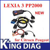 Wholesale 2015 New Arrival Lexia diagbox v7 PP2000 for Citroen Peugeot Professional Diagnoool Lexia3 pp2000 with LED light
