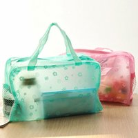 Wholesale Free DHL Fashion Waterproof Cosmetic Bag Wash Bag Wash Bath Toiletries Pouch Large Capacity Multi function Travel Bag ZJ N08