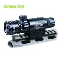 airsoft gun barrels - Tactical Green Dot Laser Sight Rifle Dot Scope Switch Picatinny Rail Barrel Mounts Rifle Airsoft Gun Hunting