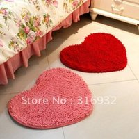 Wholesale C4 Heart Shaped Microfiber Chenille Carpets for Bedroom or Living Room pc