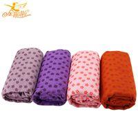 Wholesale Jinlala professional Eco friendly yoga towel PVC slip resistant yoga blankets thickening yogitoes towel