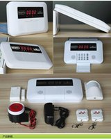 Wholesale 2pcs remote controls doorsensors infrared Burglar alarm household security alarm system GSM wireless infrared alarm system
