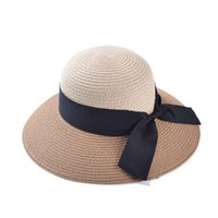 Cheap 2014 spring and summer bowknot women straw hat fashion bucket hat girl cool cap