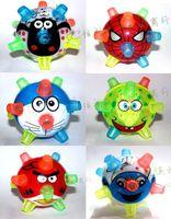 Wholesale Electric toys bouncing ball crystal ball with cartoon image flash bouncing ball dance music luminous ball