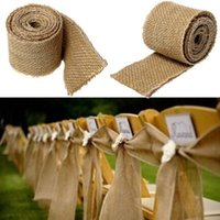 Wholesale 300x6cm Natural Vintage Jute Hessian Burlap Ribbon Rustic Weddings Belt Strap Floristry CM Long