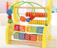 Wholesale Multifunctional Wooden Baby Kids Wooden Abacus Toy Computing Calculator Math Learning Teaching Tool Toys