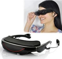 Wholesale Portable Eyewear Inch HD Widescreen Multimedia Player VG320 stereo Video Glasses Virtual Theatre GB HDMI interface efit gift