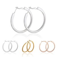 Wholesale Hot Fashion classic colors Simple Circle Earrings silver plated hoop earrings for women big hoop earrings