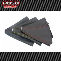 Wholesale HOSO RACING CARBON PVC FIBER LOOK BLUE STITCH BLACK SHIFT BOOT FOR SHIFT GEAR COVER SHIFTER Gear Shift Collars