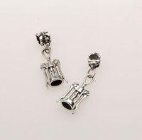 antique wine bottle opener - Hot Antique Silver Corkscrew Wine Bottle Opener European Dangle Beads Gift fit Charms Bracelet x11mm mn21