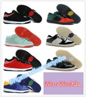 Wholesale Mens Skateboard Low Shoes Fashion Branded suede Skate Shoes colors size
