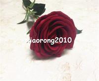 red velvet flower - Artificial Flannel Red Rose Flowers cm quot Long Simulation Silk Rose Fake velvet Flowers for Wedding Xmas Party Deco