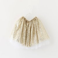 Wholesale Girls Sequin Skirt Baby Girls Sparkle Tutu Skirts Kids Infant Toddler Tulle Skirt Princess Party Dress Dance Wear Pettiskirt Kids Clothing