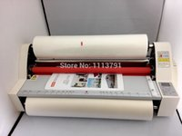 Wholesale Brand New17 quot V480 Laminator Four Rollers Hot Roll Laminating Machine electronic temperature control Laminating Roll Film