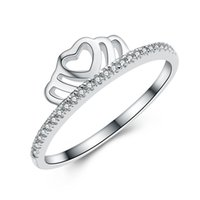 american design company - hot New real Sterling silver manufacturing company hot fashion jewelry crown ring italian silver ring designs for girl