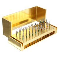dental drill burs - 30pcs Dental Diamond Burs Drill Disinfection Bur Block High Speed Handpieces