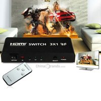 audio interface tv - HDSW3 Inputs Out x1 HDMI Splitter Switch Support P D with Audio Interface for PS3 XBOX X360 Computer TV Box