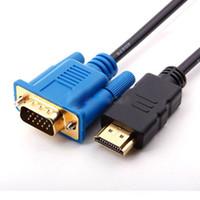Wholesale 100pcs M HDMI Male to SVGA VGA M Converter A V Cable Lead