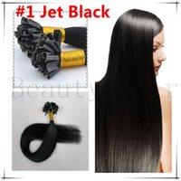 u tip hair extensions - Pre Boneded Hair Extensions Keratin U Tip Hair Malaysian Nail Tip Hair Jet Black g g s