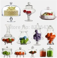 Wholesale wedding candy jar with cover glass bottle The wedding gift cake pan