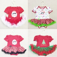 baby shorts modeling - Baby girl rompers cotton dress short sleeve Santa Claus Modeling baby baby overalls baby jumpsuit neonato clothing