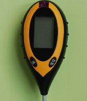 Wholesale 4 in Soil PH Meter Soil Moisture Meter Sunlight Moisture PH temperature meter with Backlight