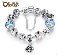 beads gif - Valentines Day Gifts Flower Heart Charm Fit Beads Bracelet Silver with Chain Colorful Glass Beads for Women Jewelry Gif