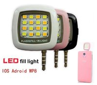 Wholesale Mini Portable led flash fill light for iPhone and Android Devices